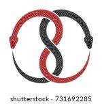 ouroboros symbol tattoo design. ... | Shutterstock .eps vector #731692285