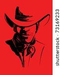 Vector Portrait Of Cowboy On...