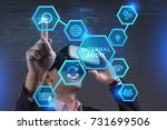 Small photo of Business, Technology, Internet and network concept. Young businessman working on a virtual screen of the future and sees the inscription: Internal audit