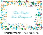 festive colorful square... | Shutterstock .eps vector #731700676