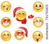 set of smiley fun | Shutterstock .eps vector #731701822