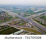 road traffic in city. | Shutterstock . vector #731705308