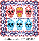 holy death  day of the dead ... | Shutterstock .eps vector #731706382