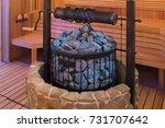 interior of finnish sauna ... | Shutterstock . vector #731707642