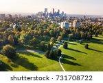 denver cityscape aerial view... | Shutterstock . vector #731708722