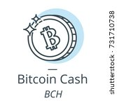 bitcoin cash cryptocurrency... | Shutterstock .eps vector #731710738