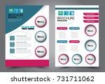 business flyer design template. ... | Shutterstock .eps vector #731711062