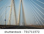 new bandra worli sea link also...   Shutterstock . vector #731711572