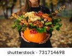Pumpkin With Beautiful Bouquet...