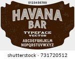 vintage handcrafted vector font ... | Shutterstock .eps vector #731720512