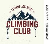 climbing club badge. vector.... | Shutterstock .eps vector #731734045
