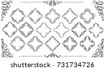 big set of vintage styled... | Shutterstock .eps vector #731734726
