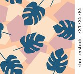 tropical hand drawn pattern | Shutterstock .eps vector #731735785