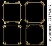 decorative line art frames for... | Shutterstock . vector #731743642
