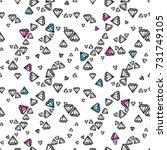 fashion diamonds background... | Shutterstock .eps vector #731749105