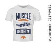 vintage muscle car vector logo... | Shutterstock .eps vector #731749882