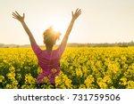 mixed race african american...   Shutterstock . vector #731759506