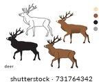 zoo deer vector icon logo | Shutterstock .eps vector #731764342