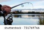 fishing in river   Shutterstock . vector #731769766