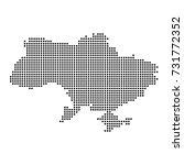 dotted map of ukraine | Shutterstock .eps vector #731772352