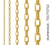 golden chain. set of vector... | Shutterstock .eps vector #731772712
