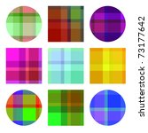 Vibrant Colored Plaids Vector