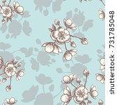 vector apple flower blossom... | Shutterstock .eps vector #731785048