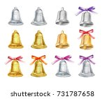 set of gold and silver... | Shutterstock . vector #731787658