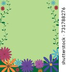 decorative funny colorful... | Shutterstock .eps vector #731788276