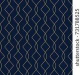 golden art deco motif. elegant...   Shutterstock .eps vector #731788525