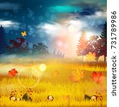 autumn background. | Shutterstock .eps vector #731789986