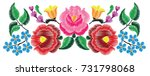 mexican floral embroidery | Shutterstock .eps vector #731798068