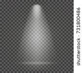 light beam on transparent... | Shutterstock .eps vector #731800486