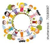 world of childhood | Shutterstock . vector #73180087