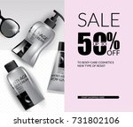 vector illustration cosmetics... | Shutterstock .eps vector #731802106