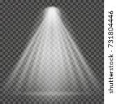 light beam on transparent... | Shutterstock .eps vector #731804446