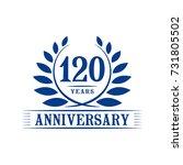 120 years anniversary logo... | Shutterstock .eps vector #731805502