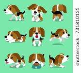 cartoon character beagle dog... | Shutterstock .eps vector #731810125