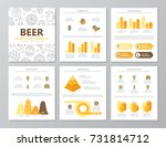set of colored beer and bar ... | Shutterstock .eps vector #731814712