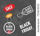 black friday sale tag  round... | Shutterstock .eps vector #731815315