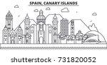 spain  canary islands... | Shutterstock .eps vector #731820052