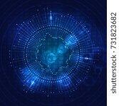 big data visualization.... | Shutterstock .eps vector #731823682