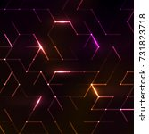 abstract polygonal space.... | Shutterstock .eps vector #731823718