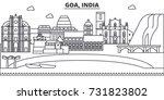goa  india architecture line... | Shutterstock .eps vector #731823802