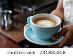woman hands holding green... | Shutterstock . vector #731835358