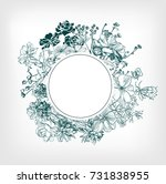 engraving flower background...