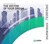 design element for corporate... | Shutterstock .eps vector #731853262