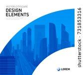 design element for corporate... | Shutterstock .eps vector #731853316