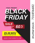 black friday sale posters... | Shutterstock .eps vector #731856682