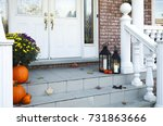 traditional styled home... | Shutterstock . vector #731863666